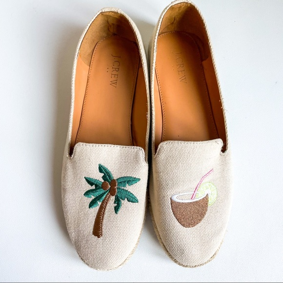 🌴🥥 J. Crew coconut palm loafers size 8 - j0753